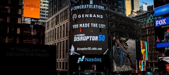 GENBAND Recognized as 2015 CNBC Disrupter 50